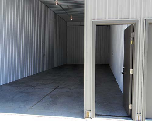 man doors and roll up doors at Mega Storage